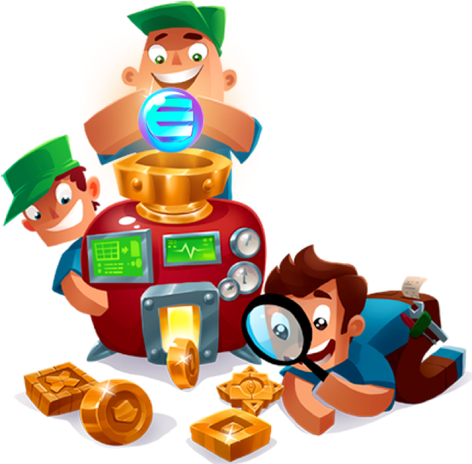 Enjin coin smart cryptocurrency. Games clipart toy game