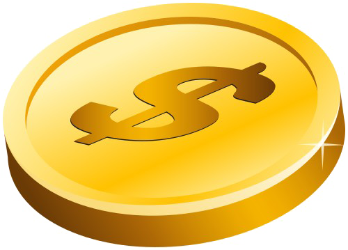 Gold png images free. Coin clipart transparent background
