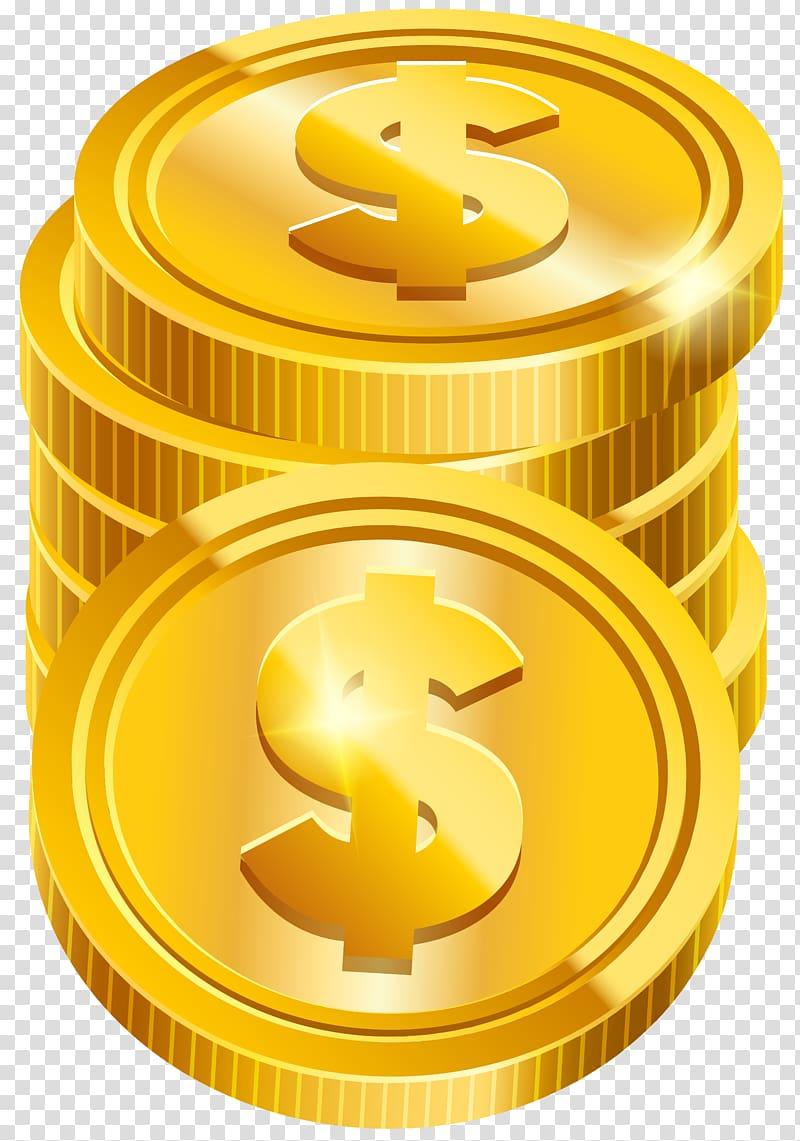 Coin clipart transparent background. Gold dollar illustration money