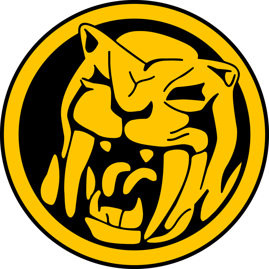 Sabretooth tiger power mmpr. Coin clipart vector