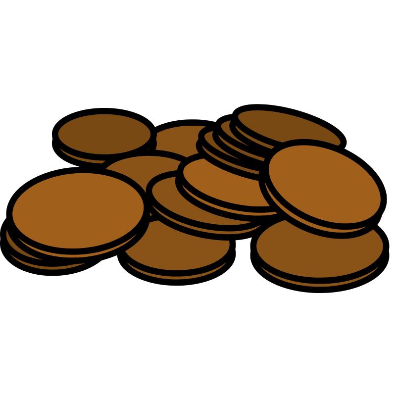 Coin clipart vector. Free pennies cliparts download