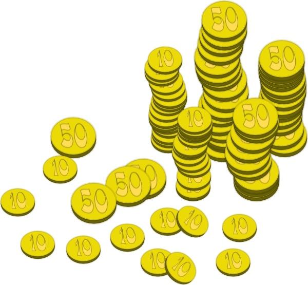 Coin clipart vector. Coins money clip art
