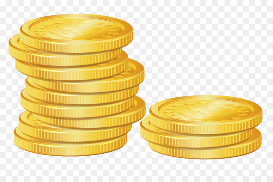 Gold money transparent clip. Coin clipart yellow