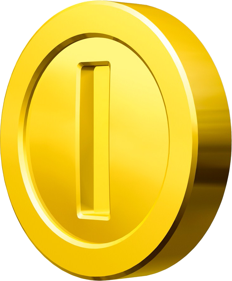 Gold coins png image. Mario clipart icon