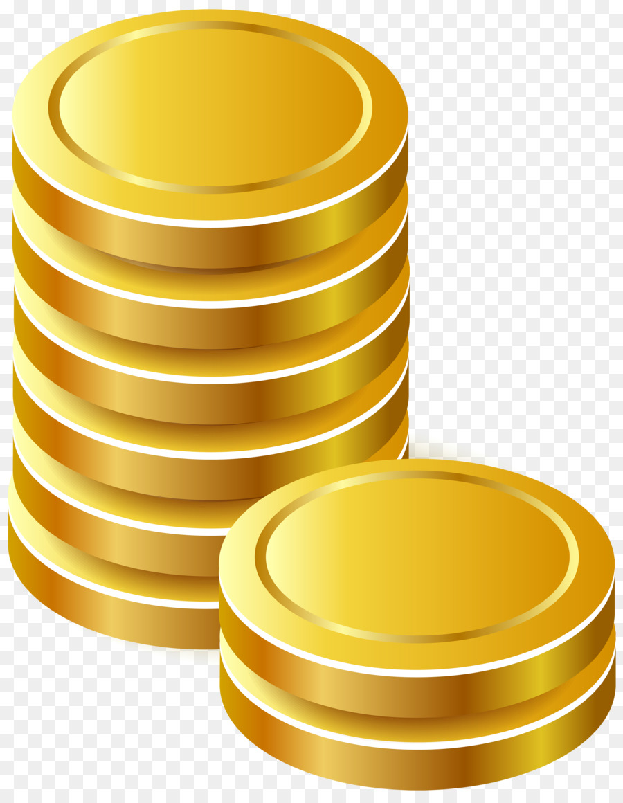 Gold transparent clip art. Coin clipart yellow