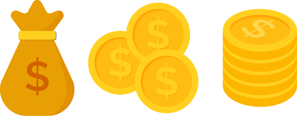 Coins png transparent free. Coin clipart yellow