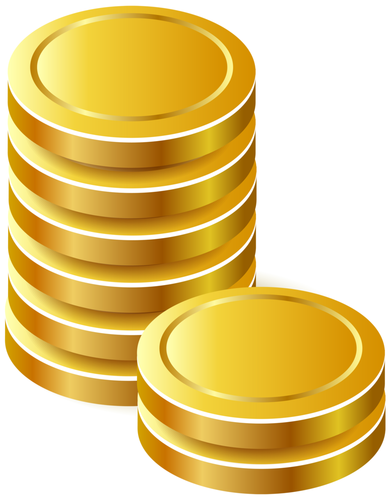 Coins png . Gold clipart coin