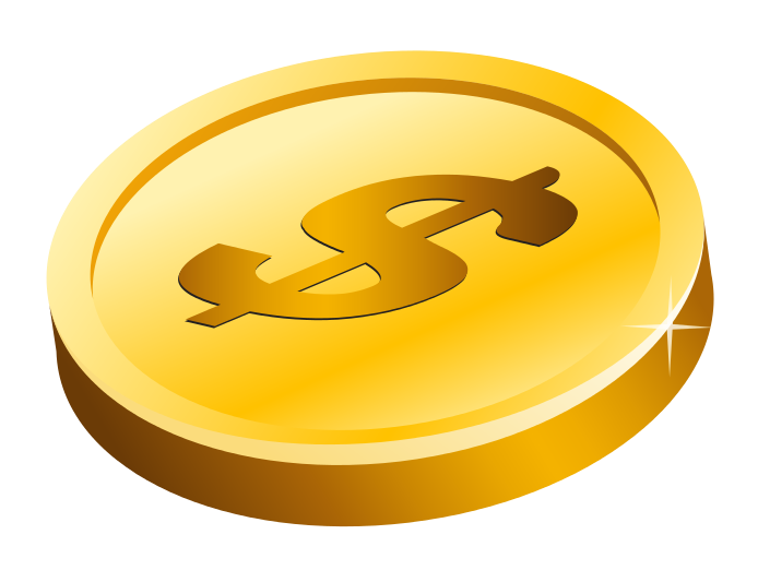 5 clipart gold. Coin