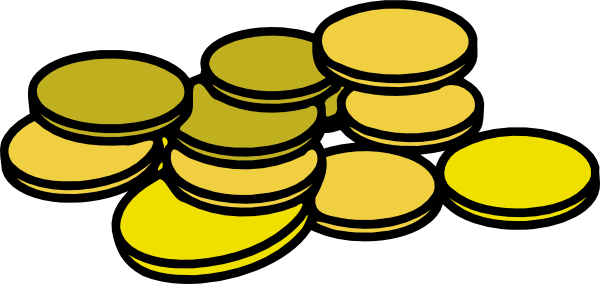 Gold clip art at. Coins clipart