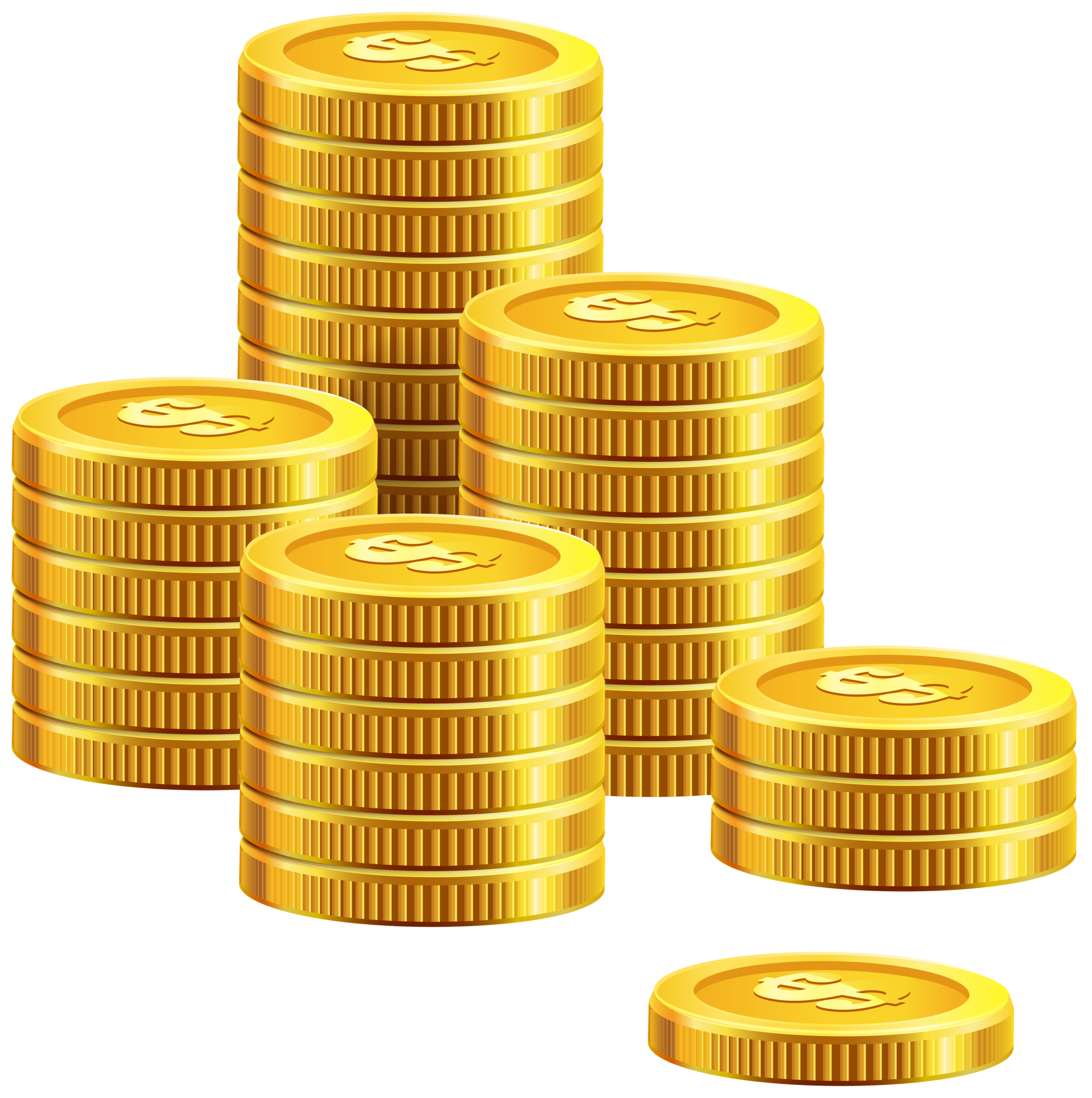 Coins clipart. Pile of png clip