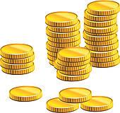 Coin clip art royalty. Coins clipart