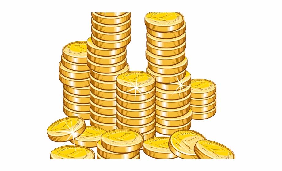 Clipart money coin. Sack gold coins clip