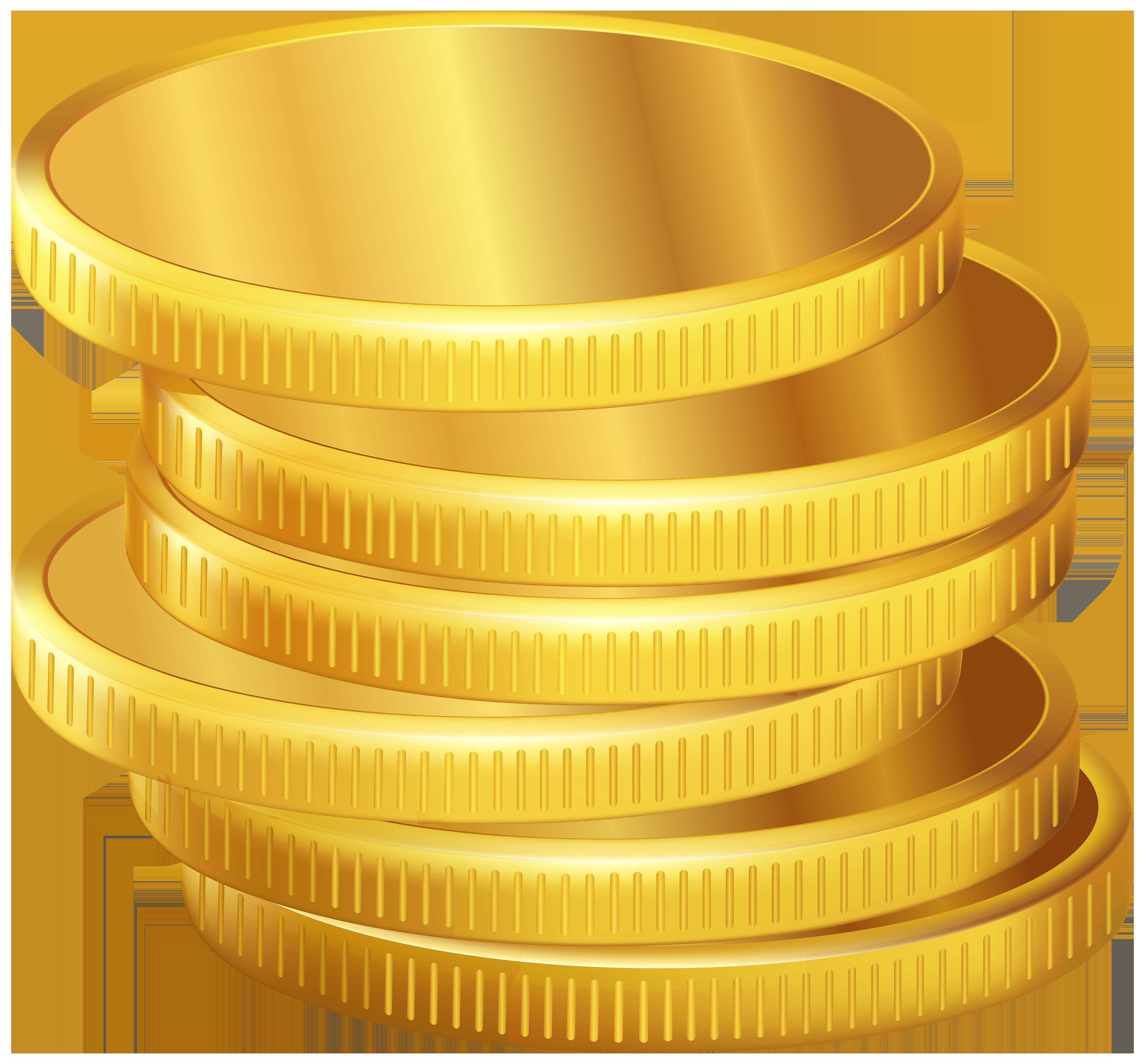 Coins clipart. Golden png best web