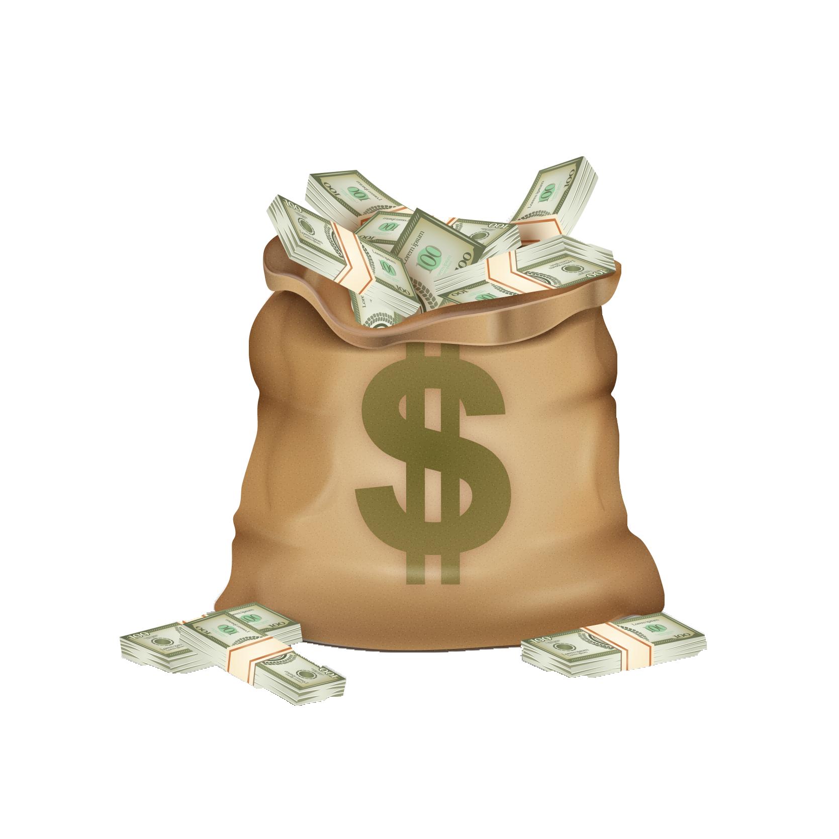 Coins clipart bag full money. Dollar sign coin purse