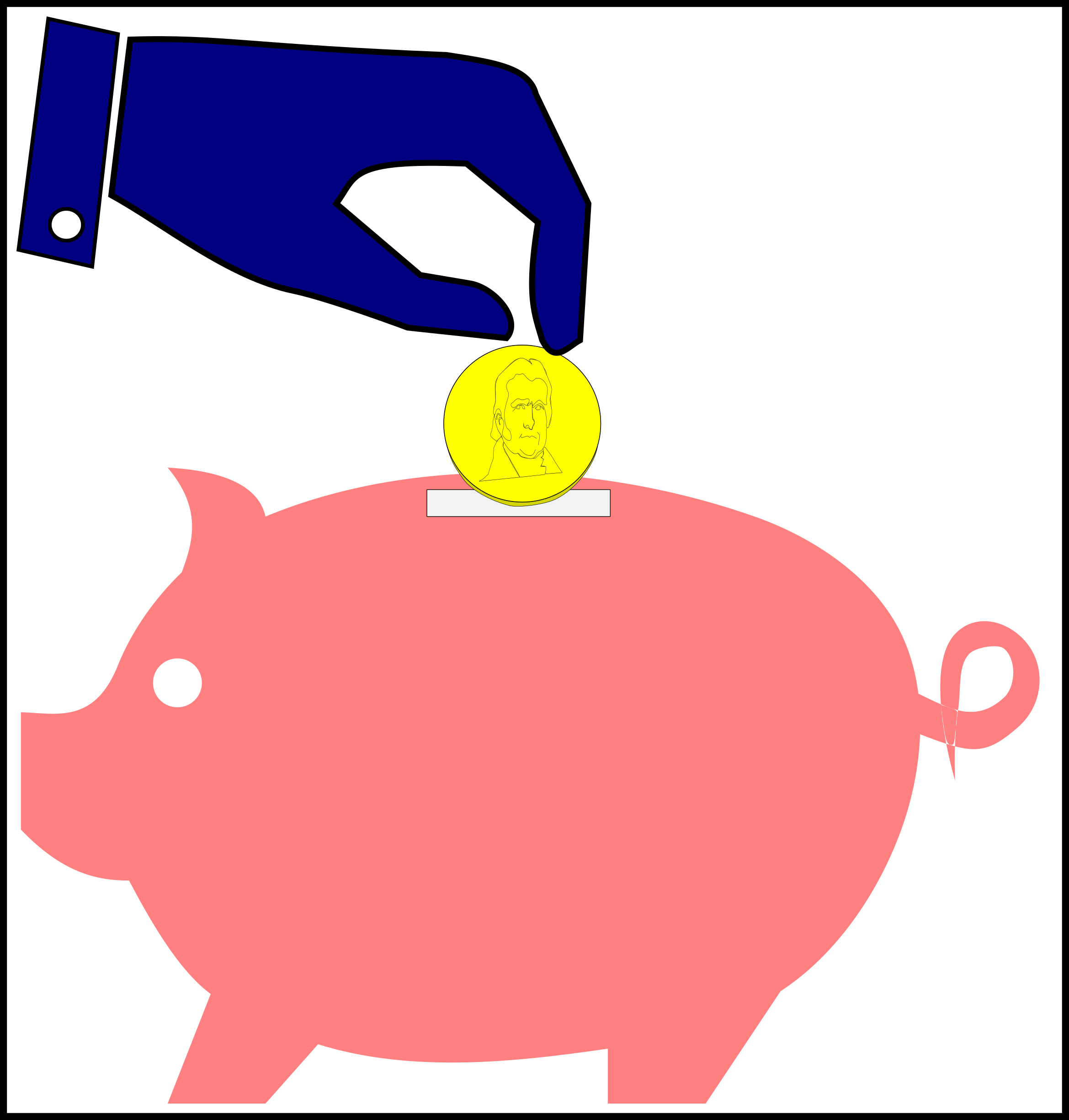 Fascinating piggy bank and. Coins clipart banking