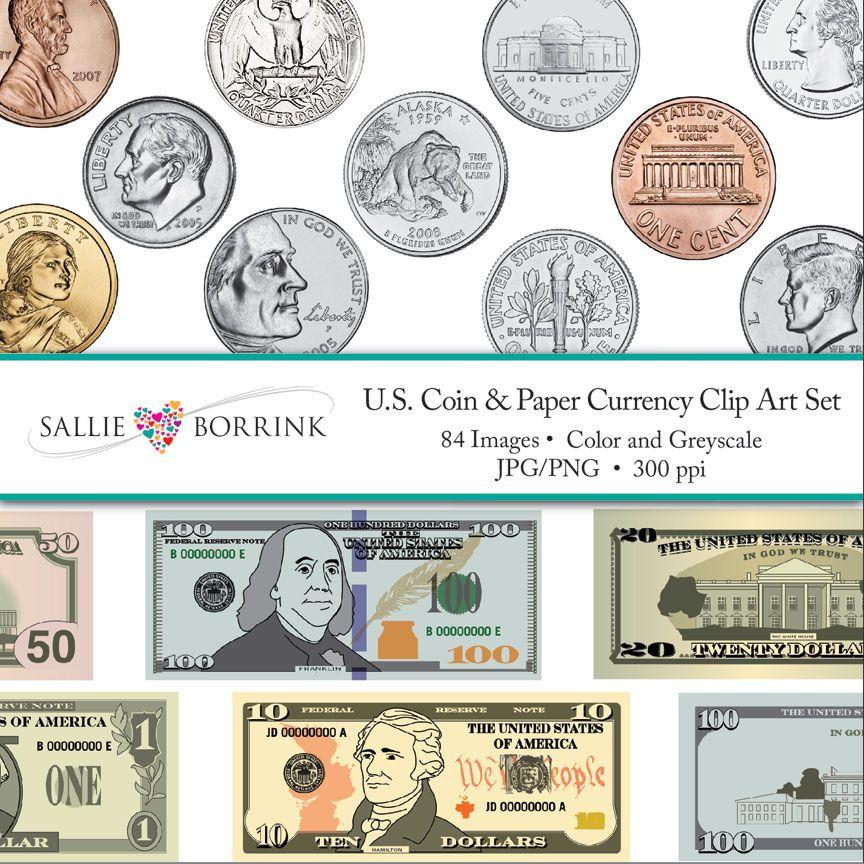 coins clipart bill coin