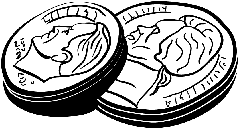 Coins clipart dimes. Group book variety storekabobbles