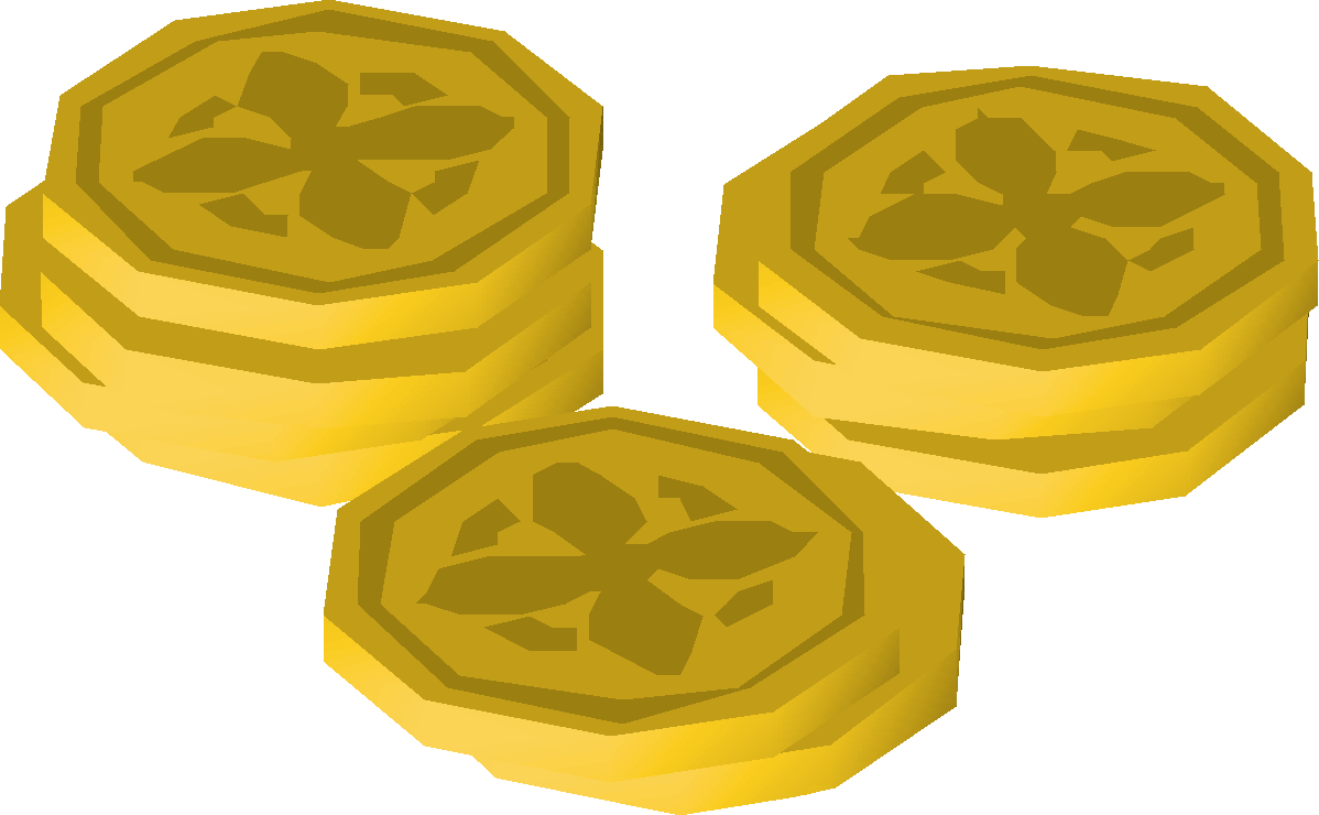 Old school runescape wiki. Coins clipart expense