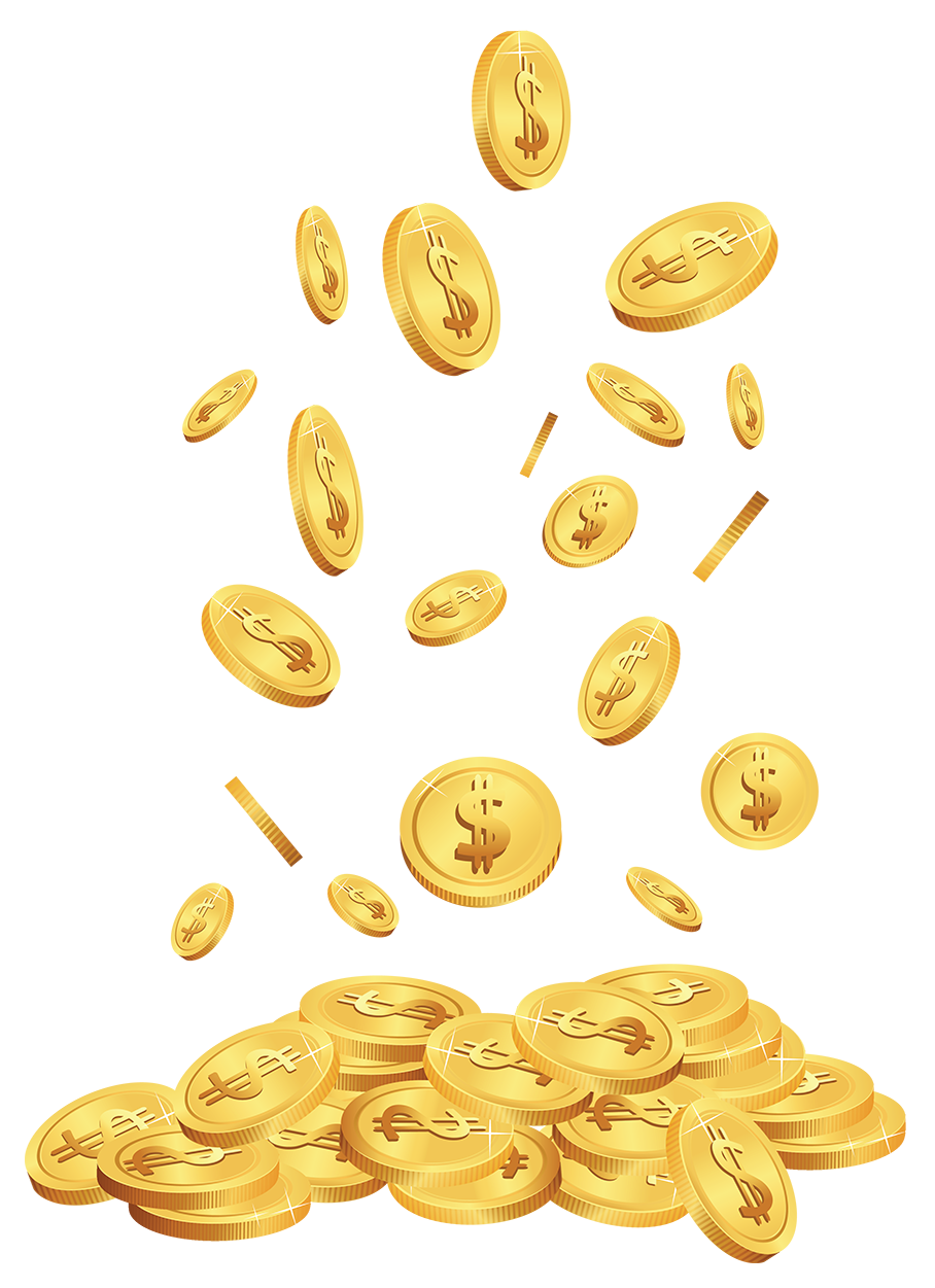 Coins clipart falling. Transparent cents png gallery