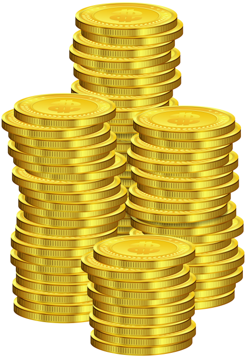 Dollars clipart pile coin. Coins png free images