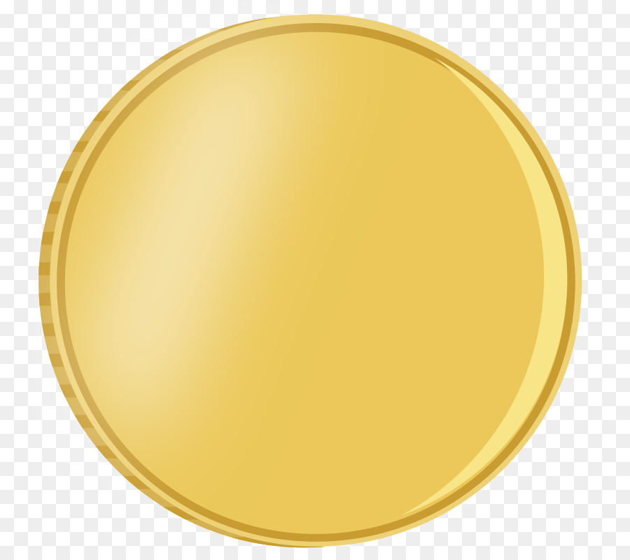Gold circle coin yellow. Coins clipart logo png