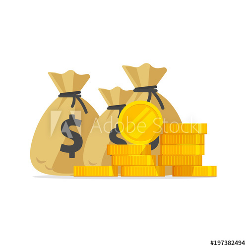 Vector big pile or. Coins clipart lot money