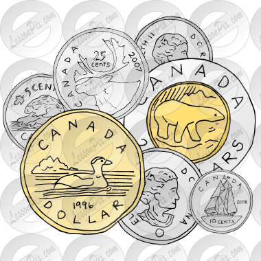 Coins clipart money canadian. Picture for classroom therapy