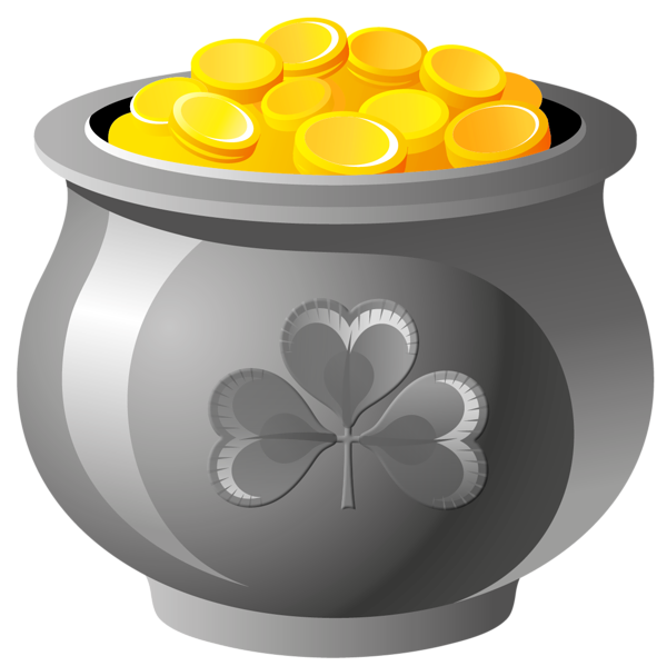 St patrick pot of. Coins clipart penny jar