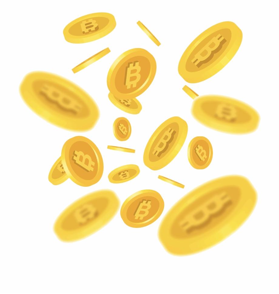 Coins clipart raining. Bitcoin gold transparent free