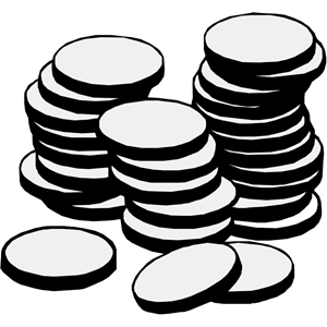 Stack cliparts of free. Coins clipart silhouette
