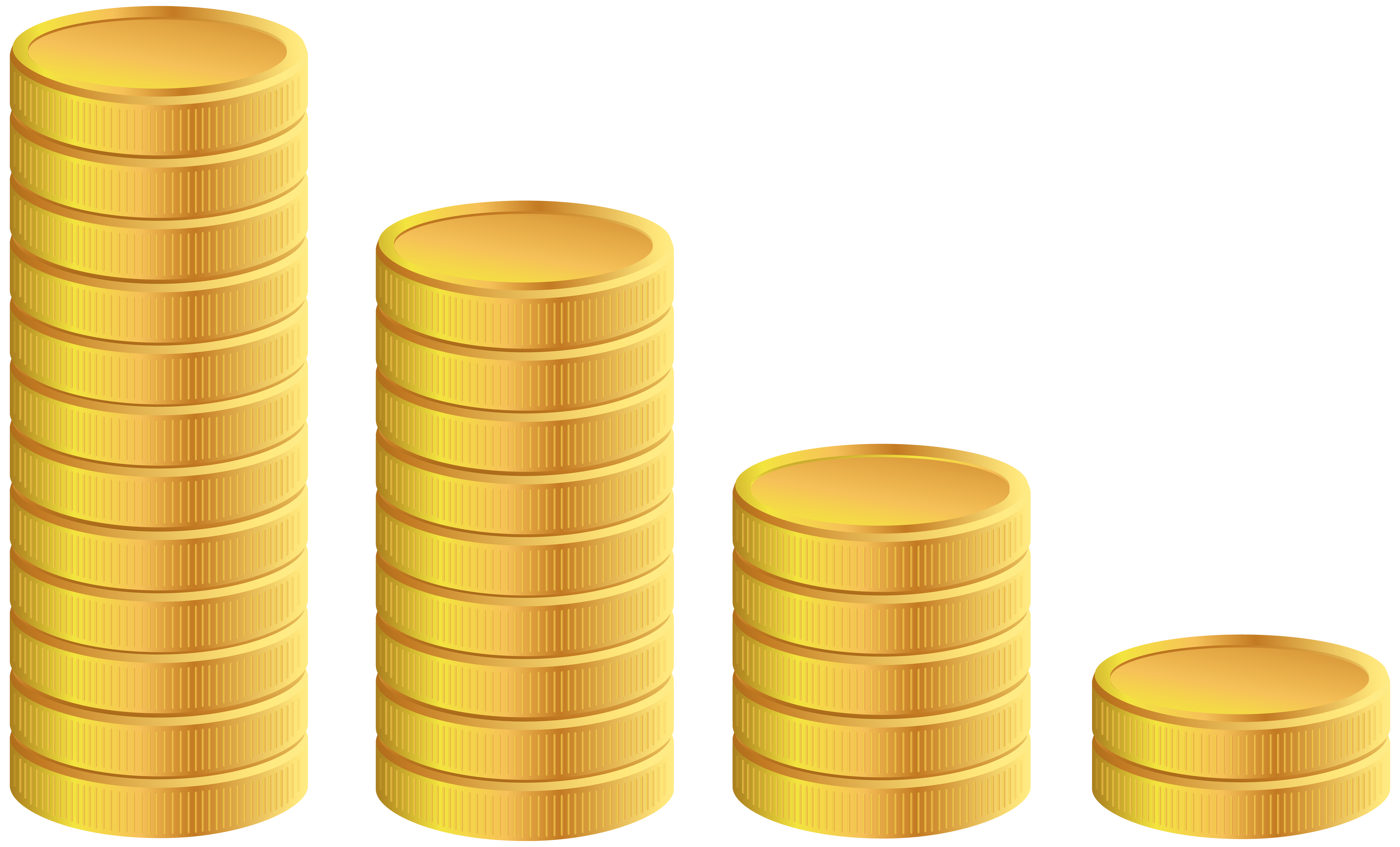 Coins clipart silhouette. Gold transparent png clip