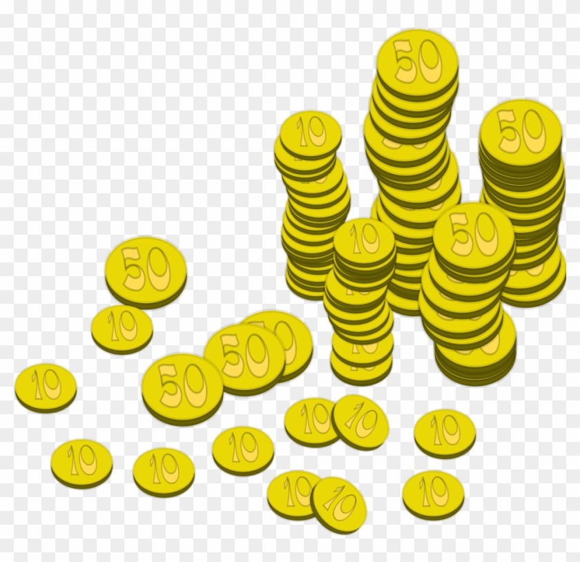 Pixel size free design. Coins clipart small money