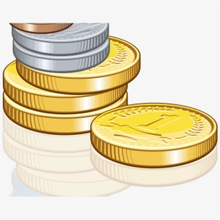 Purse exchange transparent coin. Coins clipart small money