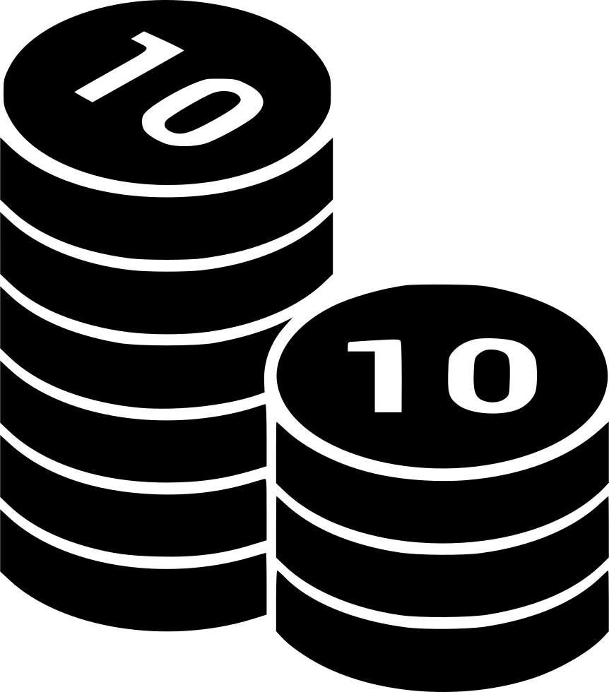 Coins Coin Columns Money Cash Currency Stack Treasure Svg Png Icon
