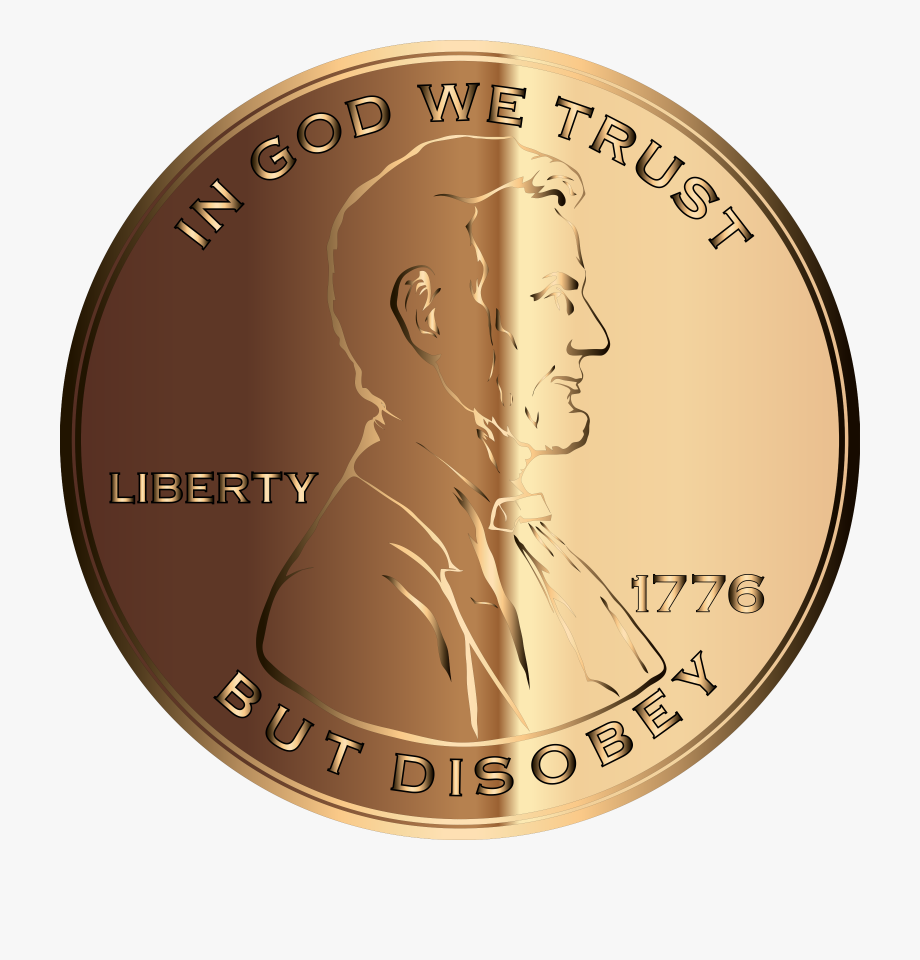 Coins clipart stack penny. Svg png transparent cartoon