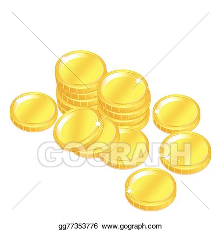 Coins clipart stack penny. Vector stock popular gold