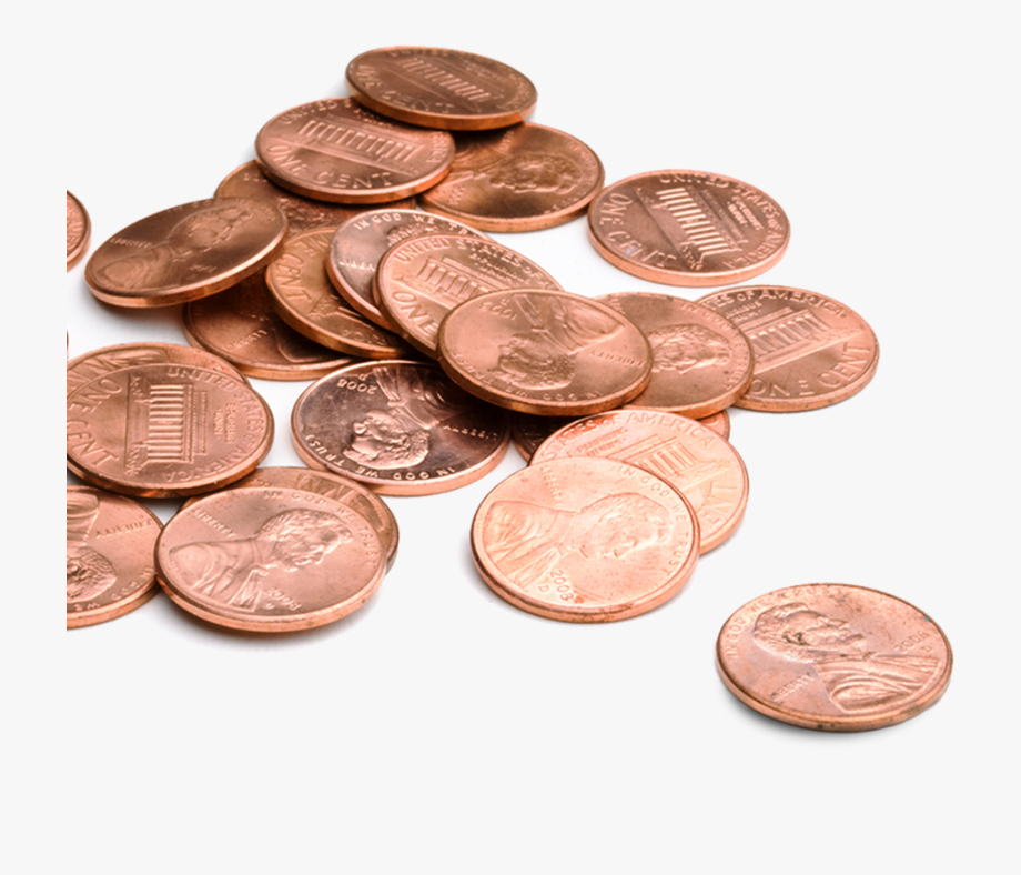 Transparent money pile of. Coins clipart stack penny
