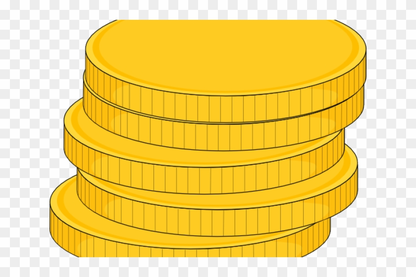 Coins clipart stacked coin. Gold piece stack of