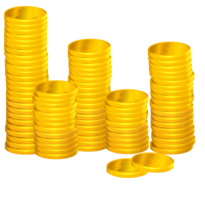Coins clipart stacked coin. Stacks of png image