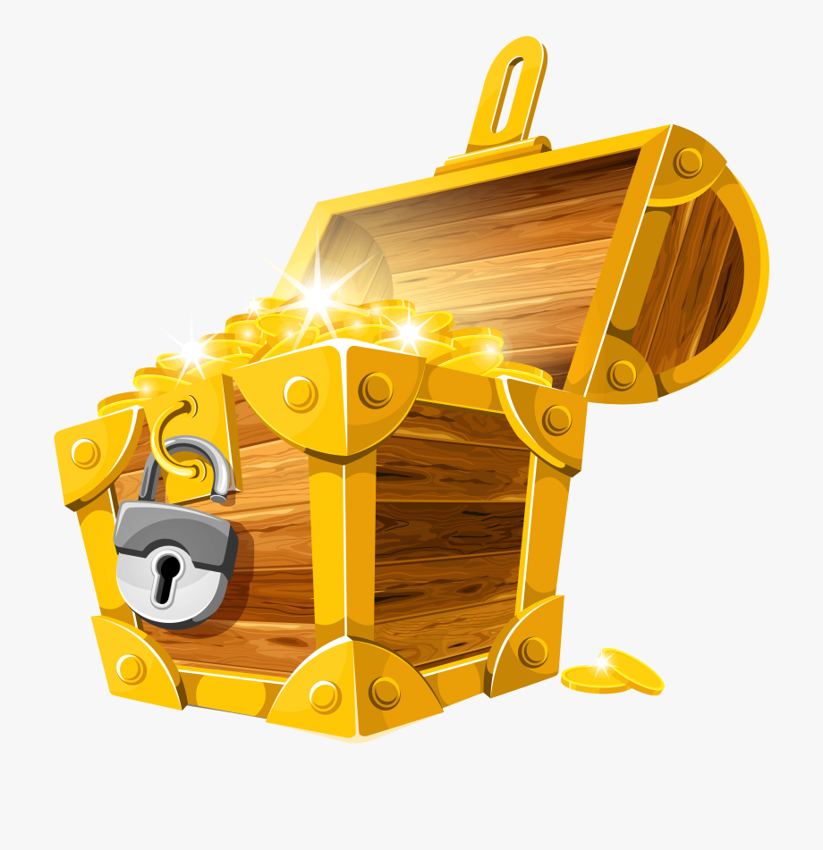 Treasure clipart gold treasure. Coins chest png picture