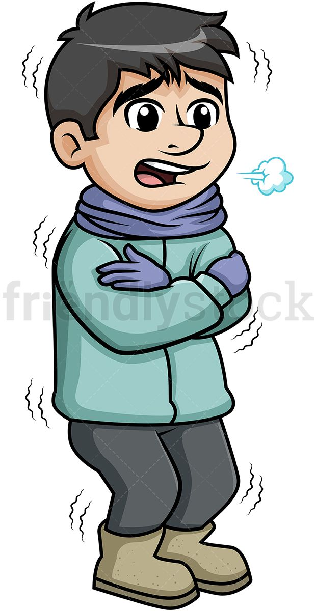 Man shivering from the. Wet clipart cold