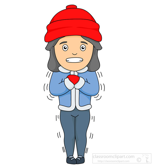 Cold clipart. Girls weather