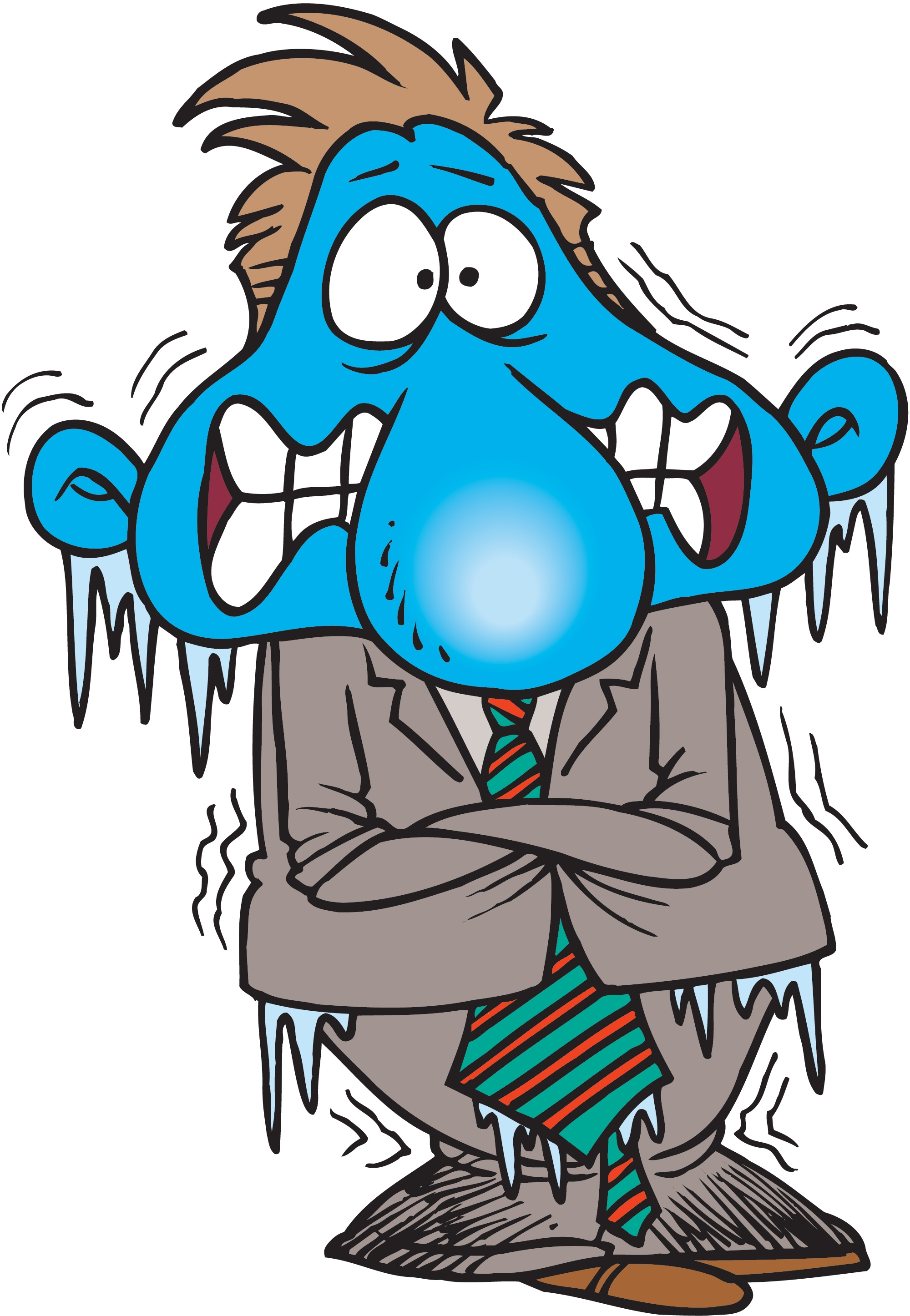 Cold clipart. People