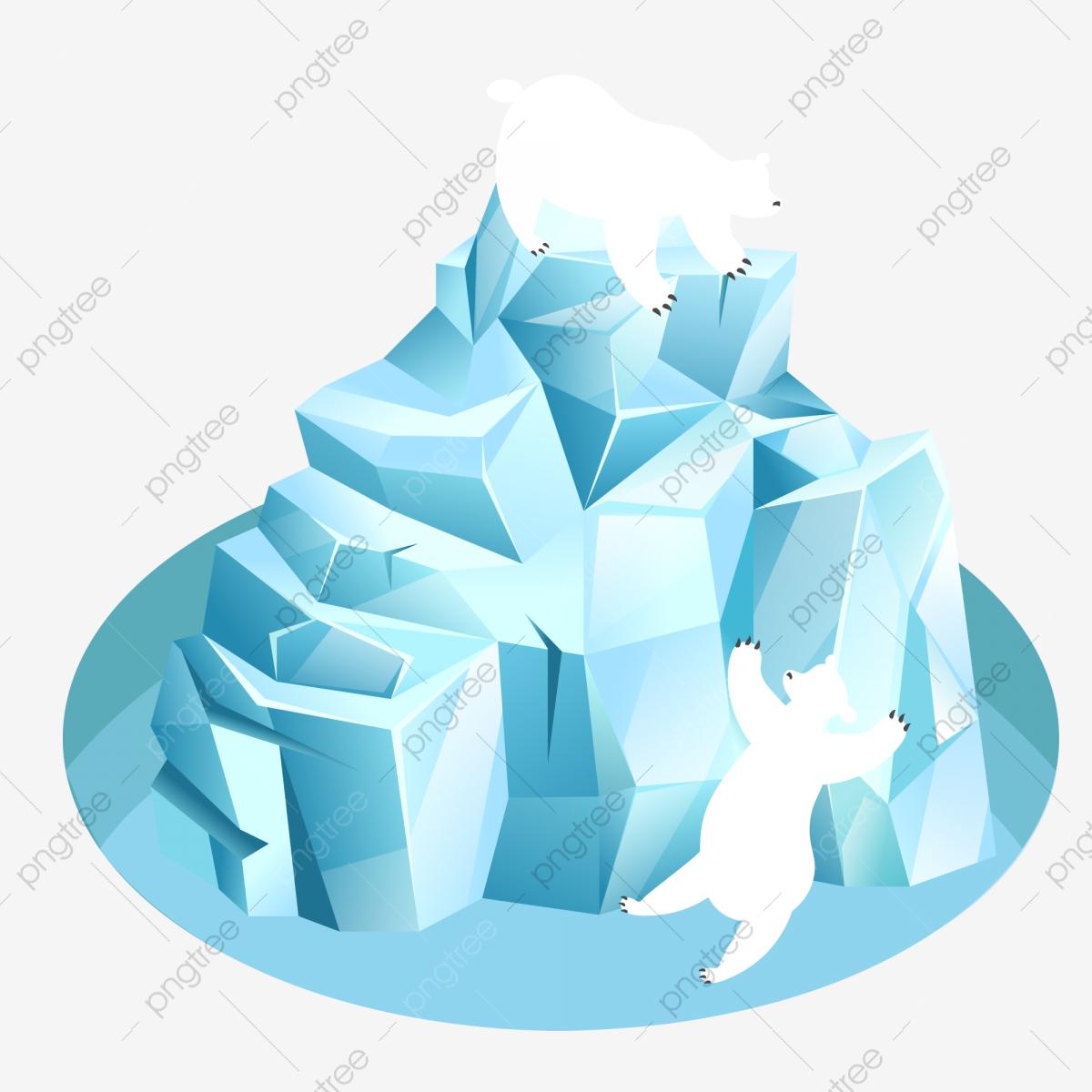 Glacier clipart vector. Arctic cold climate polar