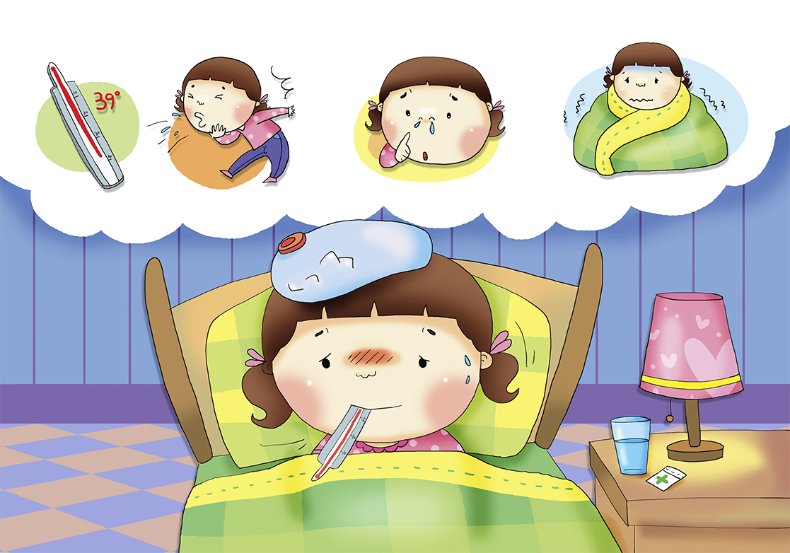 Sick clipart sickly child. Common cold cough fever
