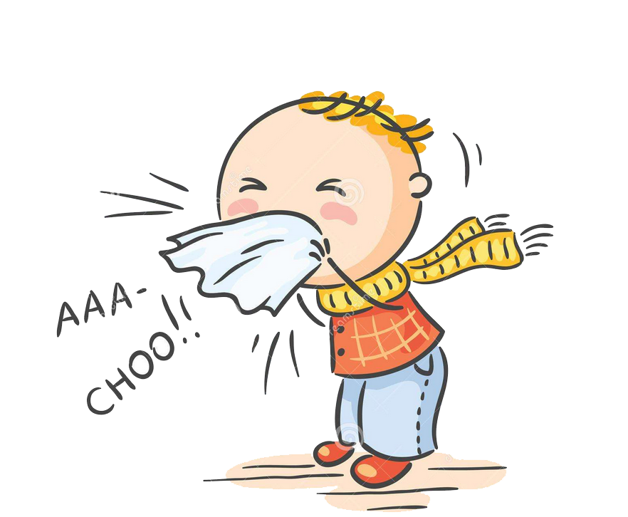 Common cold season virus. Flu clipart influenza symptom