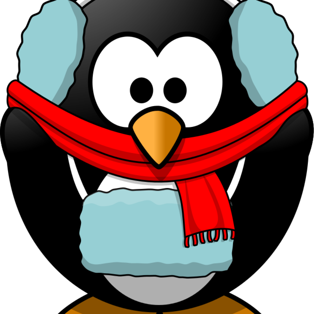 Fish hatenylo com penguin. Winter clipart cold