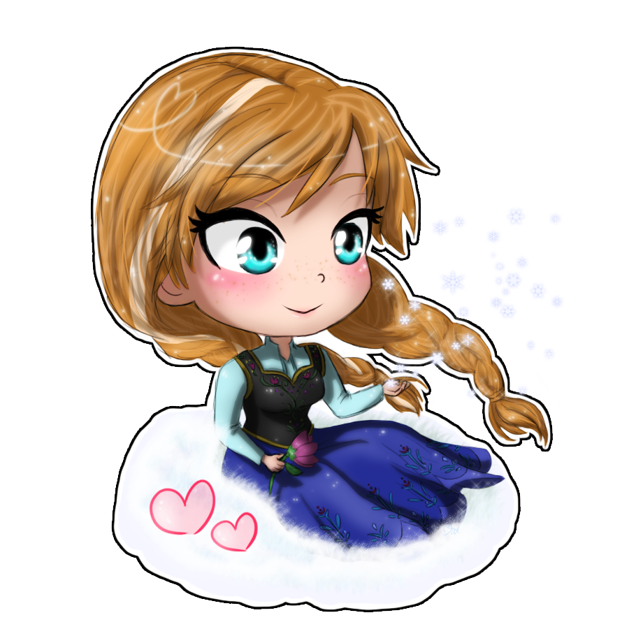 Anna chibi by tropicalsnowflake. Cold clipart frozen person