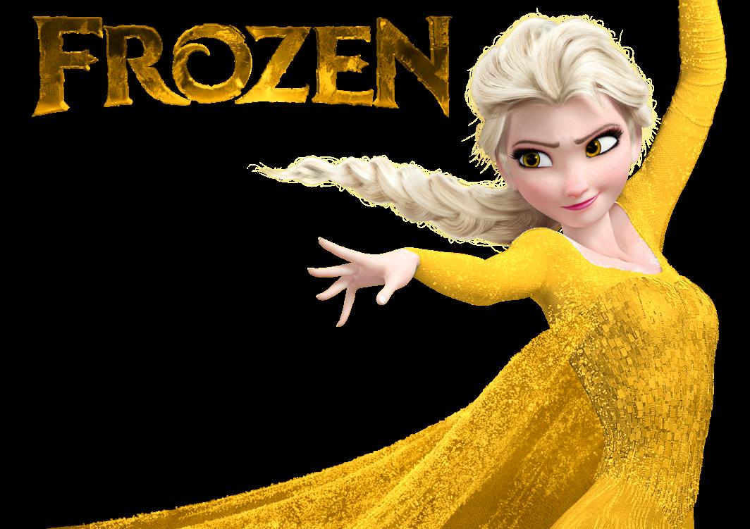 Cold clipart frozen person. Queen elsa orange dress