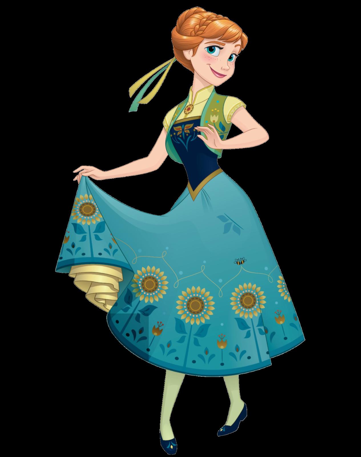 Dress clipart elsa dress. Anna de frozen fever